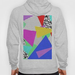 Bits And Pieces - Retro, random, abstract pattern Hoody