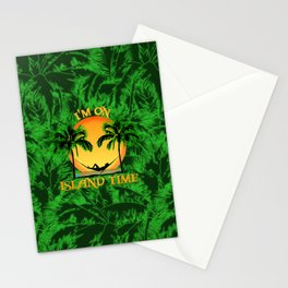 Palm Trees Tropical Island Time Stationery Cards