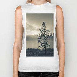 Pine Trees 3 Biker Tank