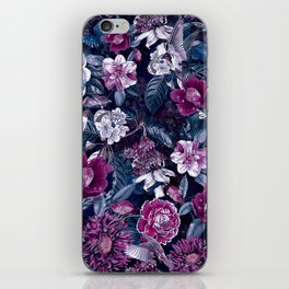 Floral Night iPhone Skin