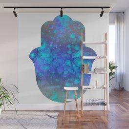 Watercolor Splatter Hamsa Hand Wall Mural