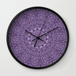Coral Purple Wall Clock