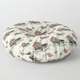 The Road So Far Vintage Floor Pillow