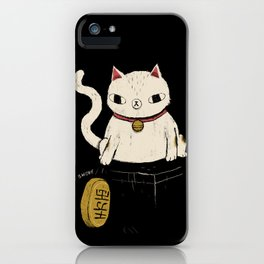 actual lucky cat iPhone Case