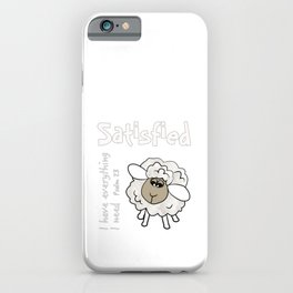 Christian Design - Satisfied Sheep.  Psalm 23 iPhone Case