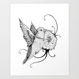 Tiny Dancer - Inktober #22 Art Print