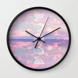 Moon Reflection Sunset Wall Clock