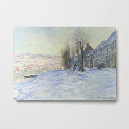 Lavacourt under Snow Metal Print