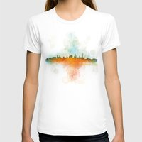 kansas city T-shirts featuring Kansas City Skyline UHq v4 by HQPhoto