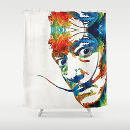 Colorful Dali Art by Sharon Cummings Shower Curtain