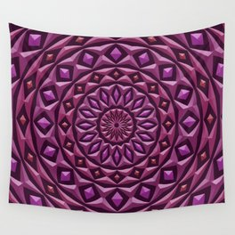 Carved in Stone Mandala Wall Tapestry