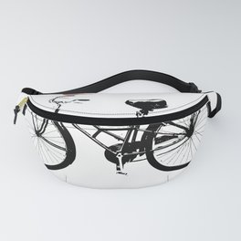 Baker's bicycle with bird Fanny Pack