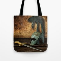 medieval Tote Bags featuring Medieval by David gonzalez