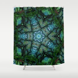 Lost in Moss Shower Curtain