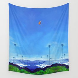 Diving Angel Wall Tapestry