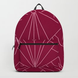 Art Deco in Raspberry Pink - Large Scale Backpack