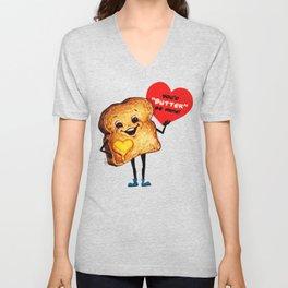 Valentine- Toast Unisex V-Neck