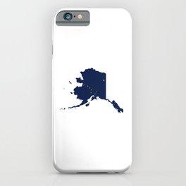 Flag Map of Alaska iPhone Case