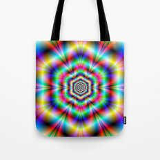 Psychedelic Hexagon Rings Tote Bag