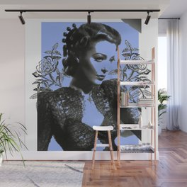 1940's Screen Siren Tattoo Art Wall Mural