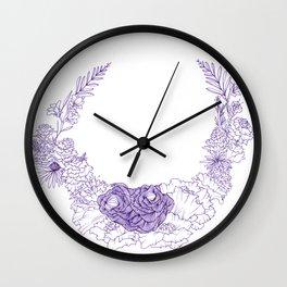purple posy Wall Clock