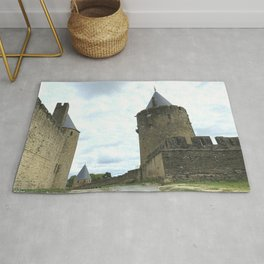 Curtain walls of the City of Carcassonne Rug