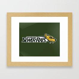 Sewer Rats Full Logo Framed Art Print