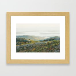 Cadillac Mountain in Fall, Acadia National Park on The Coast Of Maine Framed Art Print