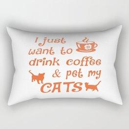 Coffee & Cats Rectangular Pillow