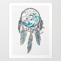dream catcher Art Prints featuring Dream Catcher by Huebucket