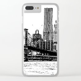 New York line Clear iPhone Case