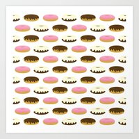 donuts Art Prints featuring Donuts by Sara Showalter