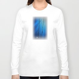 Raindrop on Blue Web Long Sleeve T-shirt