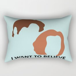 I Want To Believe X-Files Rectangular Pillow
