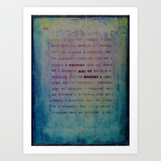 Forgive and Be Healed Art Print