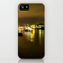 The Thames at night iPhone Case