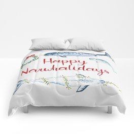 Happy Narwhalidays Comforters