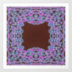 In The Pink Colorfoil Bandanna Art Print