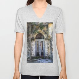 Derelict Doorway Unisex V-Neck