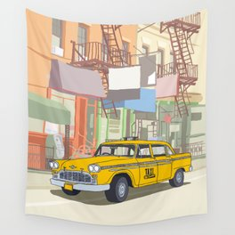 NEW YORK CAB Wall Tapestry