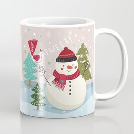 The Sweet Song Of Winter Friends Coffee Mug