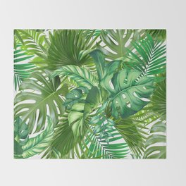 green tropic Throw Blanket