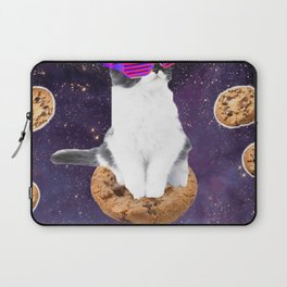 Rave Kitty Cat On Choc Cookie In Space Laptop Sleeve