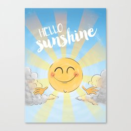 Hello Sunshine Canvas Print