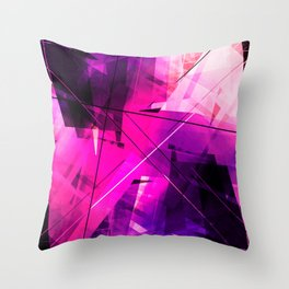 Rebellious Reflections - Geometric Abstract Art Throw Pillow