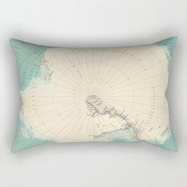 Vintage Map of Antarctica (1922) Rectangular Pillow