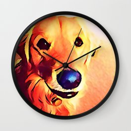 The GOLDEN from our POP YOUR POOCH line Wall Clock
