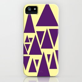 Purple Triangles Turning Cartwheels iPhone Case