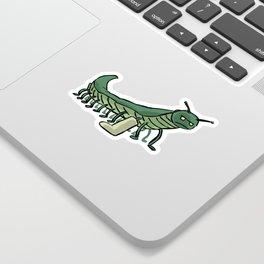 Broken Leg Caterpillar Sticker