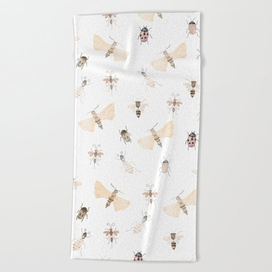 Insects and Bugs Pattern Beach Towel